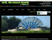 Tablet Preview of hotelragazziriccione.it